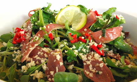 Salada de Agrião com Presunto