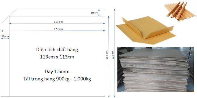 Slip sheet giấy vận chuyển hàng