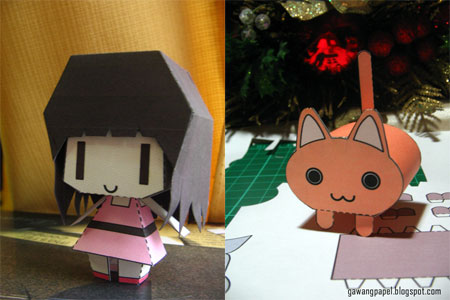 Cat vs Human Papercraft