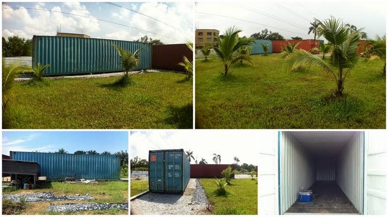 Estado previo del contenedor de dormitorio en Go Green Gateway.