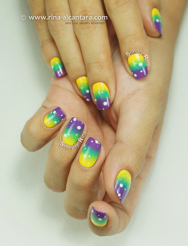 Gradient Manicure with Dots by Simply Rins