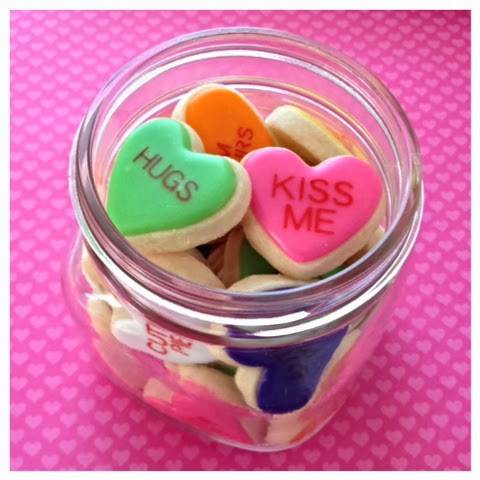 mason jar conversation hearts