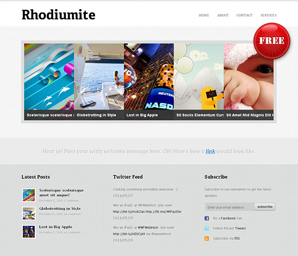 Rhodiumite Flexible WordPress Theme
