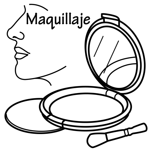 Makeup free coloring pages
