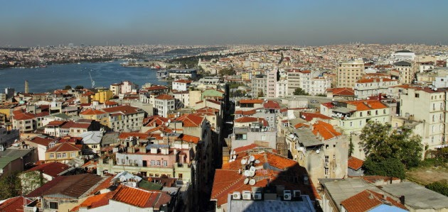 Istanbul view from the top of Galata Tower