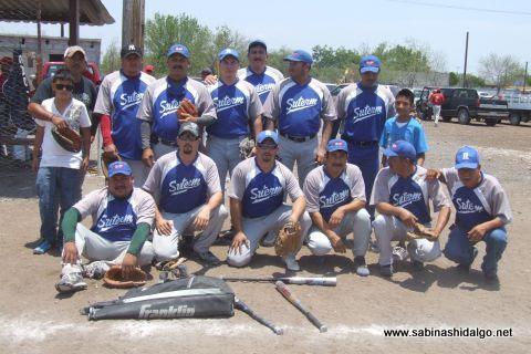 Equipo SUTERM en el softbol del Club Sertoma