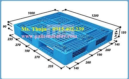 Pallet nhựa nhập khẩu 1200 x 1000 mm