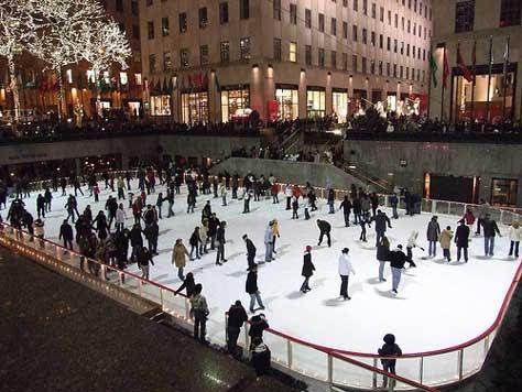Patinando en Nueva York en Navidad