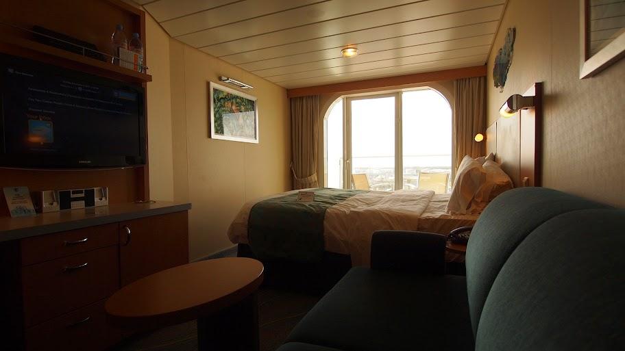 Allure of the Seas stateroom. Cruising travel hacks