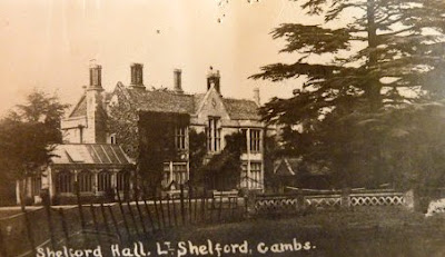 Little Shelford Hall. Built 1851. Burnt down 1929.