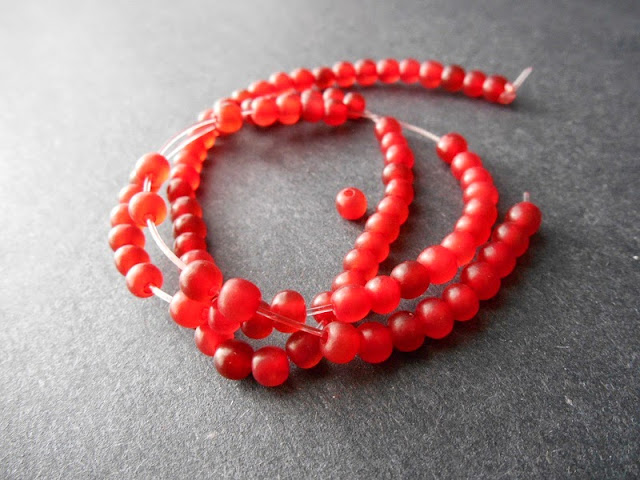 Red Horn Beads