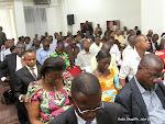 Des participants à la rencontre des membres du bureau de la commission électorale nationale indépendante(Ceni) et les acteurs de la société civil le 24/02/2014 à Kinshasa. Radio Okapi/Ph. John Bompengo