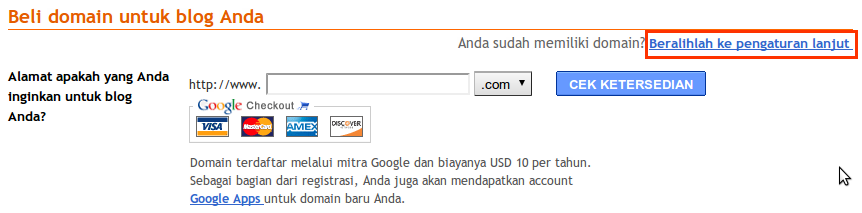 Upgrade Domain Blogspot ke [dot]TK 9
