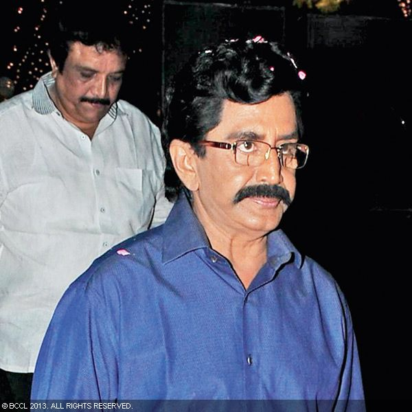 Murali Mohan arrives for the wedding reception party of Naveen and Varsha, held recently in Hyderabad.