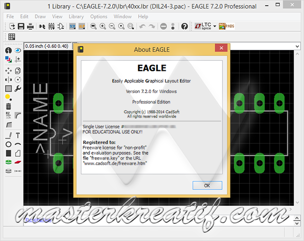 CadSoft EAGLE Professional 7.6 Full Crack | MASTERkreatif