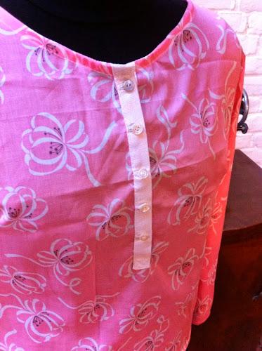Détail indécise mlm patron couture tunique blouse