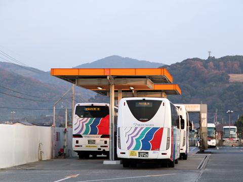 名鉄バス「不知火号」 2912&2607&2011 九州産交バス西部車庫到着 その2