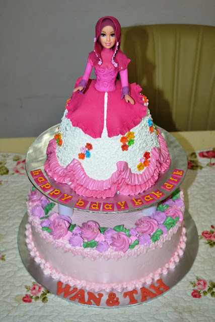 Mypu3 Cake House Muslimah Doll Cake