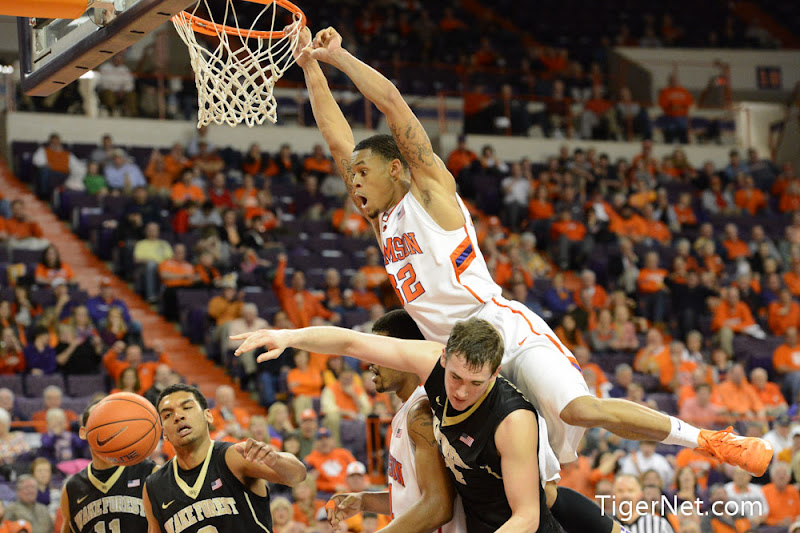 Wake Forest vs Clemson Photos - 2013, Basketball, K.J. McDaniels, Wake Forest