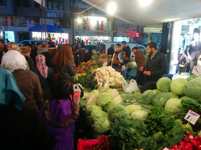 Vegetable bazaar in Istanbul