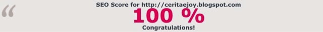 SEO score for http://www.ceritaejoy.blogspot.com