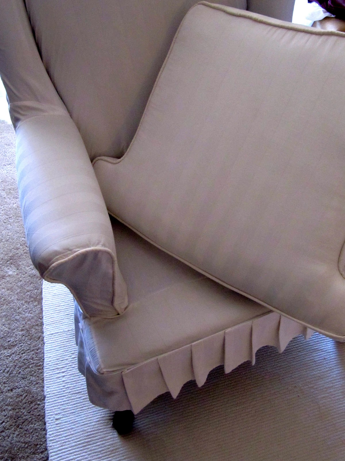 Marvelous How To Make A Wing Chair Slipcover