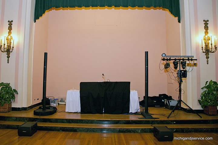 Michigan Dj Service Wedding Equipment