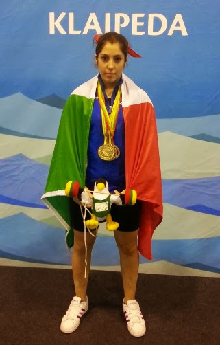 Pesistica - Un oro e due argenti per Natalia Farina agli Euro Under 17