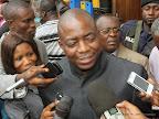 Jean- Marie Kassamba élu président de l'UNPC section Kinshasa, le 17/09/2014. Radio Okapi/Ph. John Bompengo