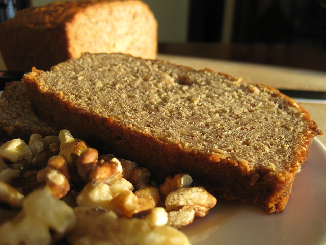 slice of healthy banana bread without eggs or butter
