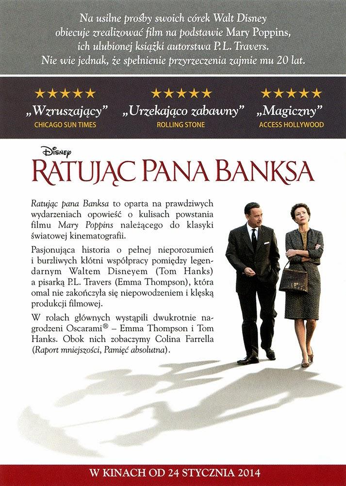 Ulotka filmu 'Ratując Pana Banksa (tył)'