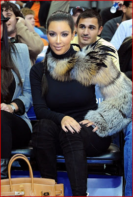 kim kardashian attend miami heat vs nj nets game