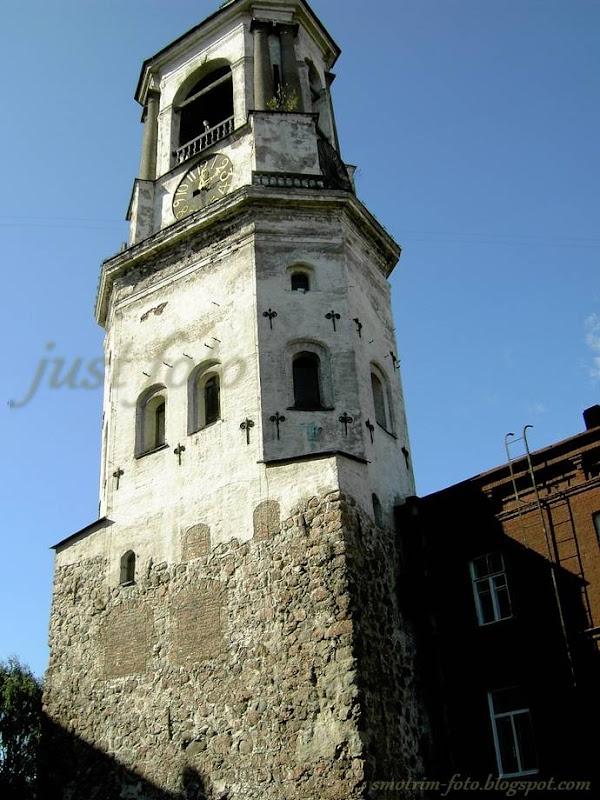 Выборг Часовая башня фото