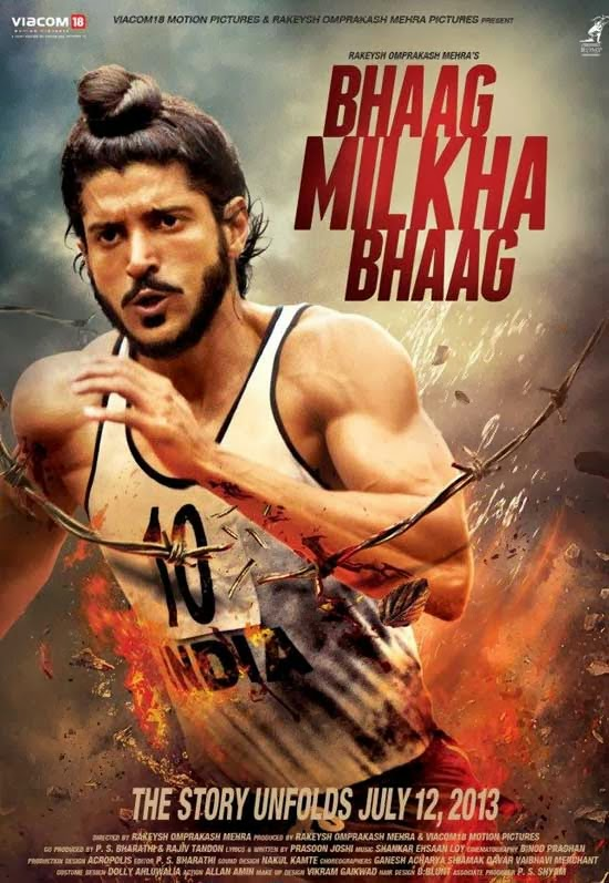 Poster Of Hindi Movie Bhaag Milkha Bhaag (2013) Free Download Full New Hindi Movie Watch Online At Alldownloads4u.Com