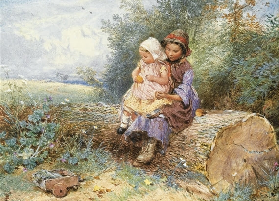 Myles Birket Foster - The Little Nurse