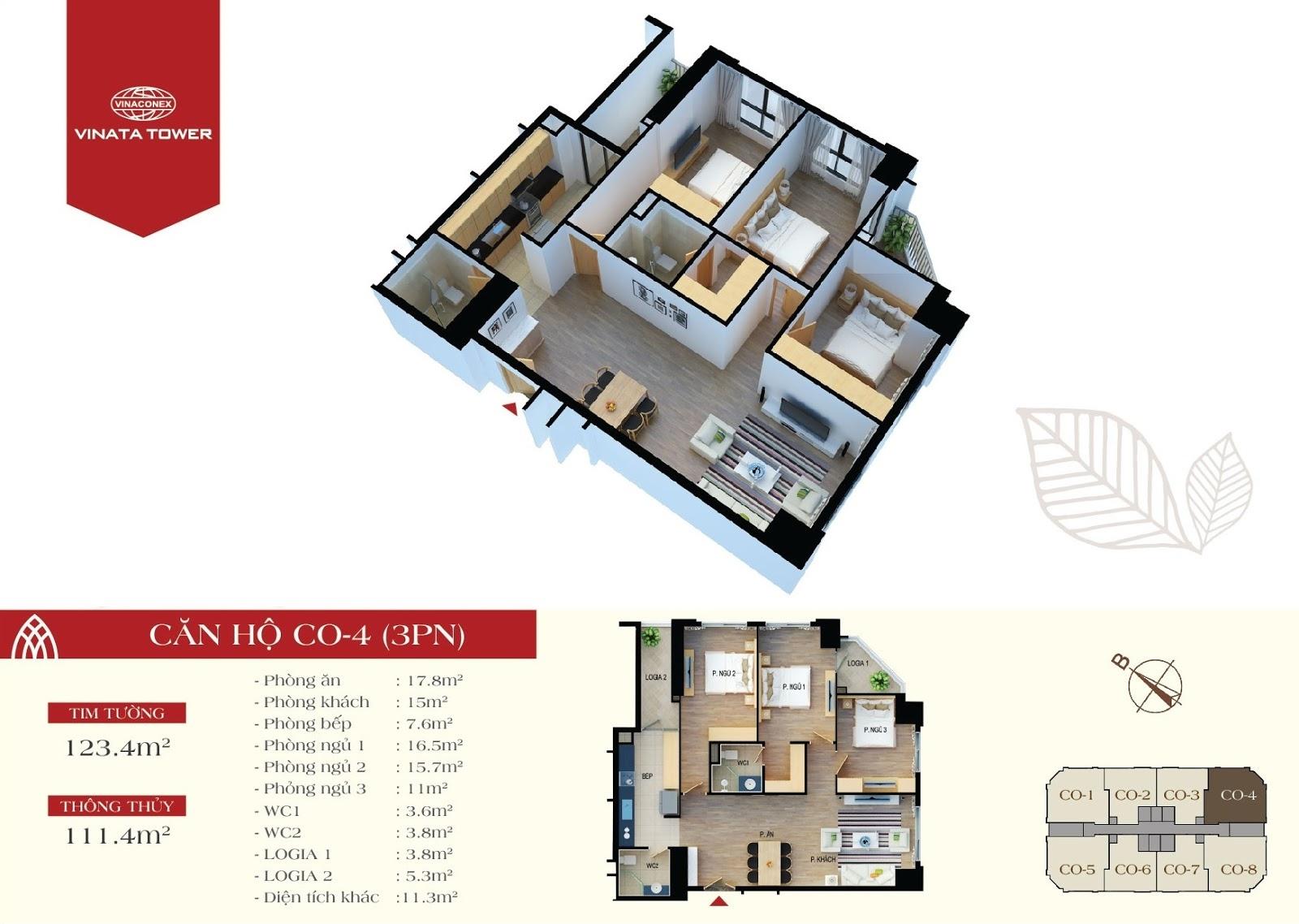 căn hộ CO4 chung cư Vinata Tower