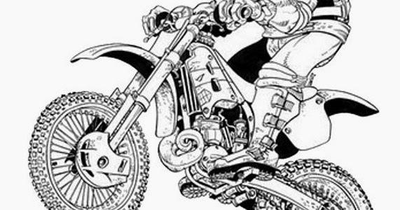 Dessin A Colorier De Moto