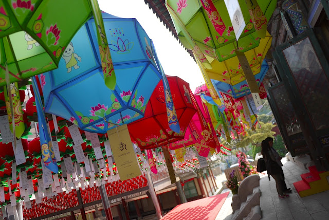 lanterns at Bongeunsa Temple in Seoul
