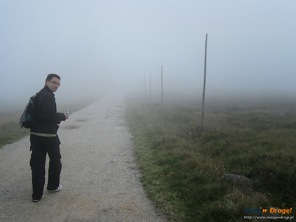 Mgliste Karkonosze - w drodze do Śnieżnych Kotłów