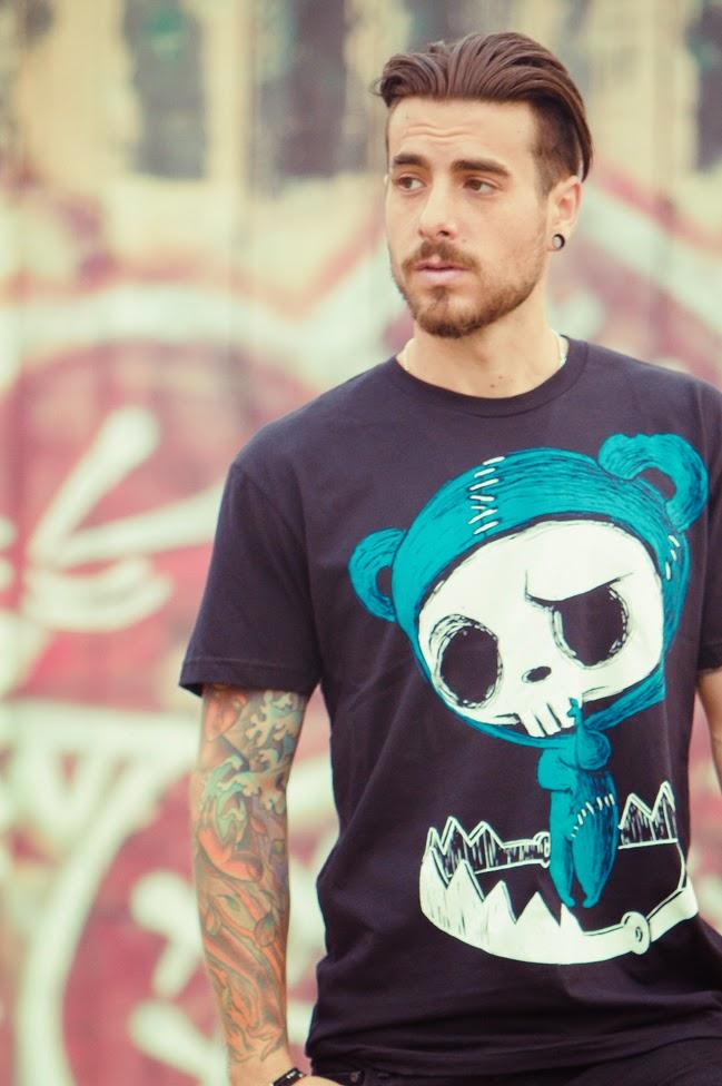 bear skull tshirt, bear skull, skull shirt, akumuink, nightmare style