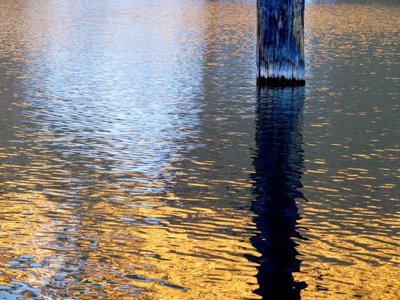 Ibantik Lake reflection at sunset