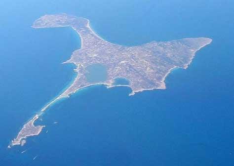 Formentera, foto aerea