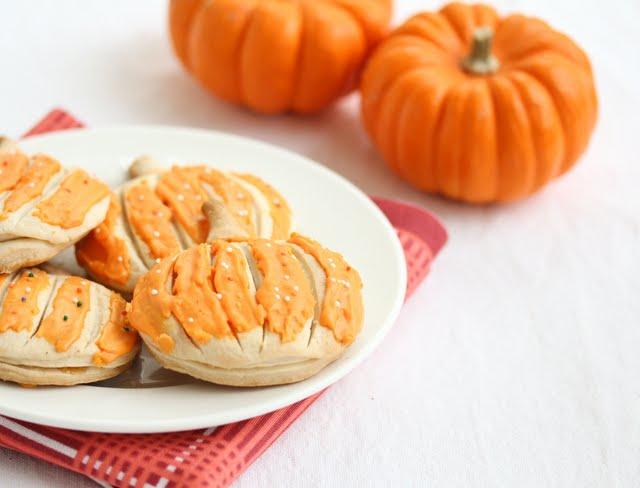 close-up photo of a plate of pumpkin pop tarts