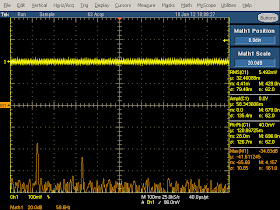 Low frequency oscilloscope trace from Apple iPhone charger