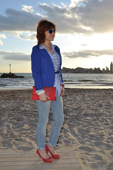 Outfits en azul klein
