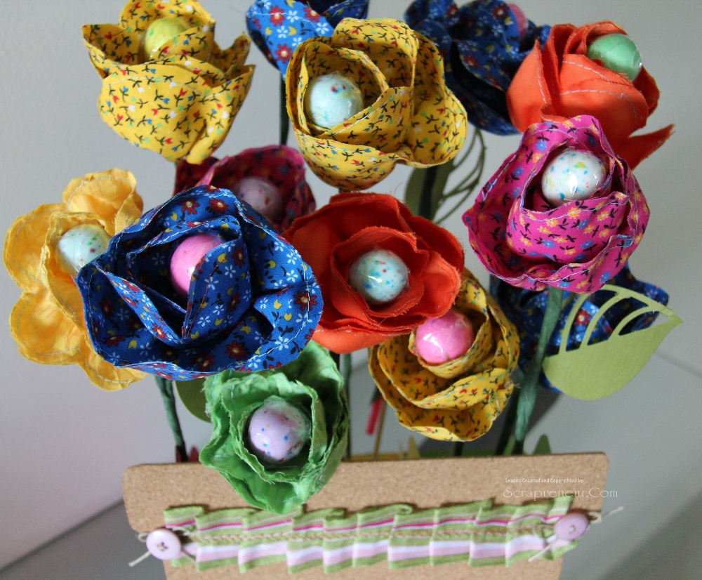 Easter Egg Fabric Flower Bouquet Jinkys Crafts