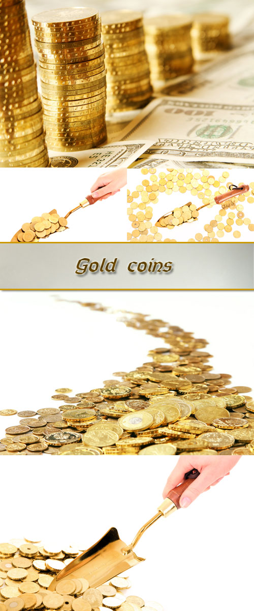Stock Photo: Gold coins 3