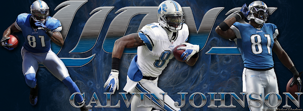 Detroit Lions Calvin Johnson Facebook Cover Photo