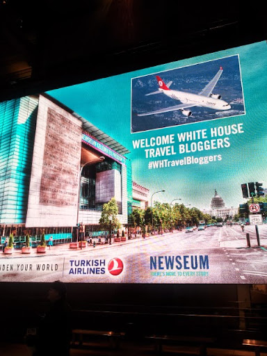 #WHTravelBloggers summit on study abroad and global citizenship - dinner at the Newseum. #WHTravelBloggers #StudyAbroadBecause