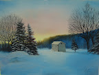 Winter Sunset - Original Painting